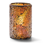 Hollowick 43017G Crackle Lamp For HD26, HD17 & HD12, Gold Glass