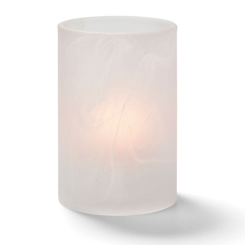 Hollowick 44017SC Wysp Votive Lamp for HD12, HD17, & HD26, Satin Crystal