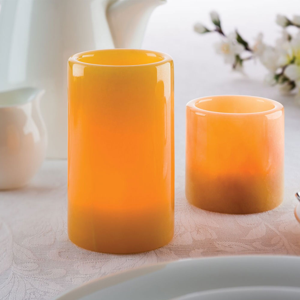 Hollowick 4708H Cylinder Tealight Lamp for HD8 & HD12 Fuel Cells, Honey Onyx