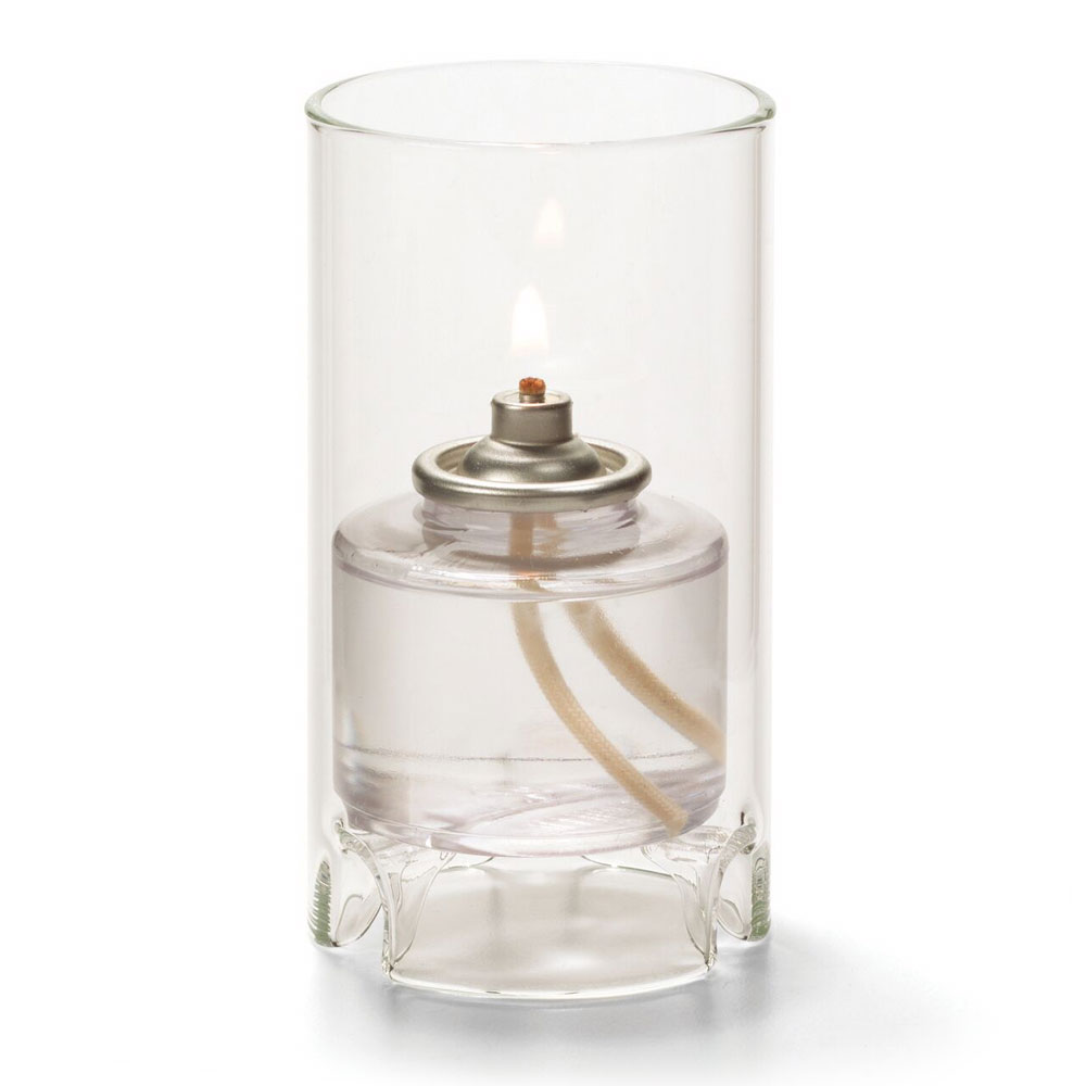 Hollowick 48017C Mini Cylinder Lamp For HD17 & HD26, 4.38x2.38-in, Glass, Clear