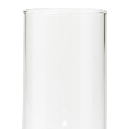 "Hollowick 4845 Lamp Shade Support w/ Cylinder Style, 4.5x3"", Glass, Clear"