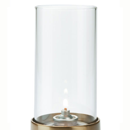 Hollowick 487C Tall Fitter Globe w/ Cylinder Shape, 3x7-in, Glass, Clear