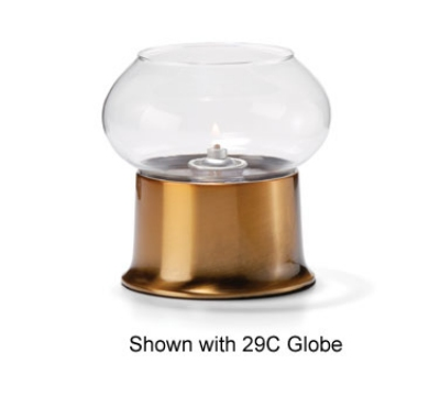 Hollowick 500 Round Cocktail Lamp Base For 3-in Fitter Globe & HD36, Satin Brass