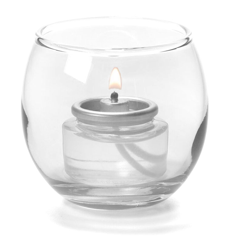 "Hollowick 5119C Tealight Lamp w/ Bubble Style, 2.63x2.38"", Glass, Clear"