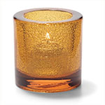 "Hollowick 5140AJ Tealight Lamp for HD8. 2.75x2.88"", Glass, Amber Jewel"