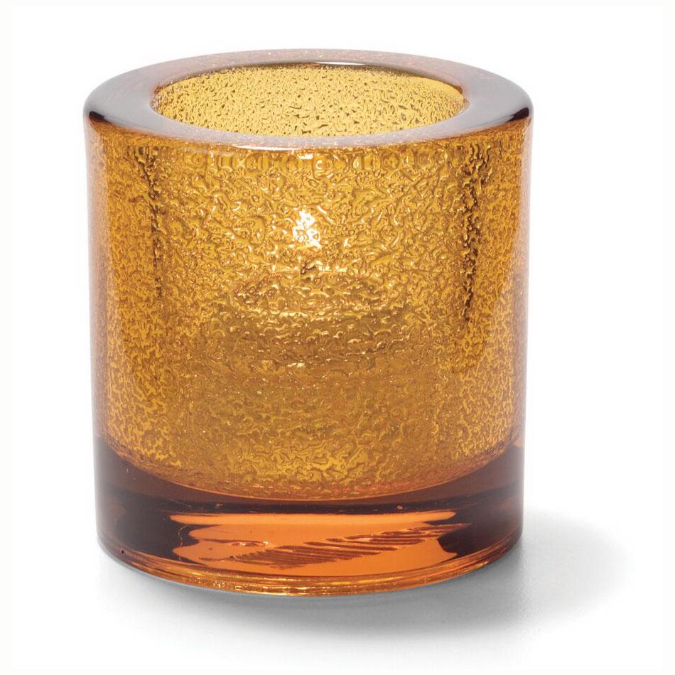 "Hollowick 5140AJ Tealight Lamp for HD8. 2.75x2.88"", Glass, Amber Jewel"