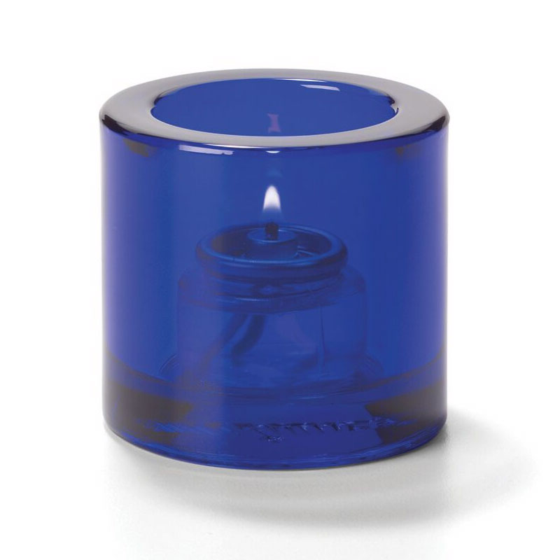 "Hollowick 5140CBL Tealight Glass Lamp, Cobalt Blue, Thick Glass, 2-7/8""H x 2-3/4""dia."
