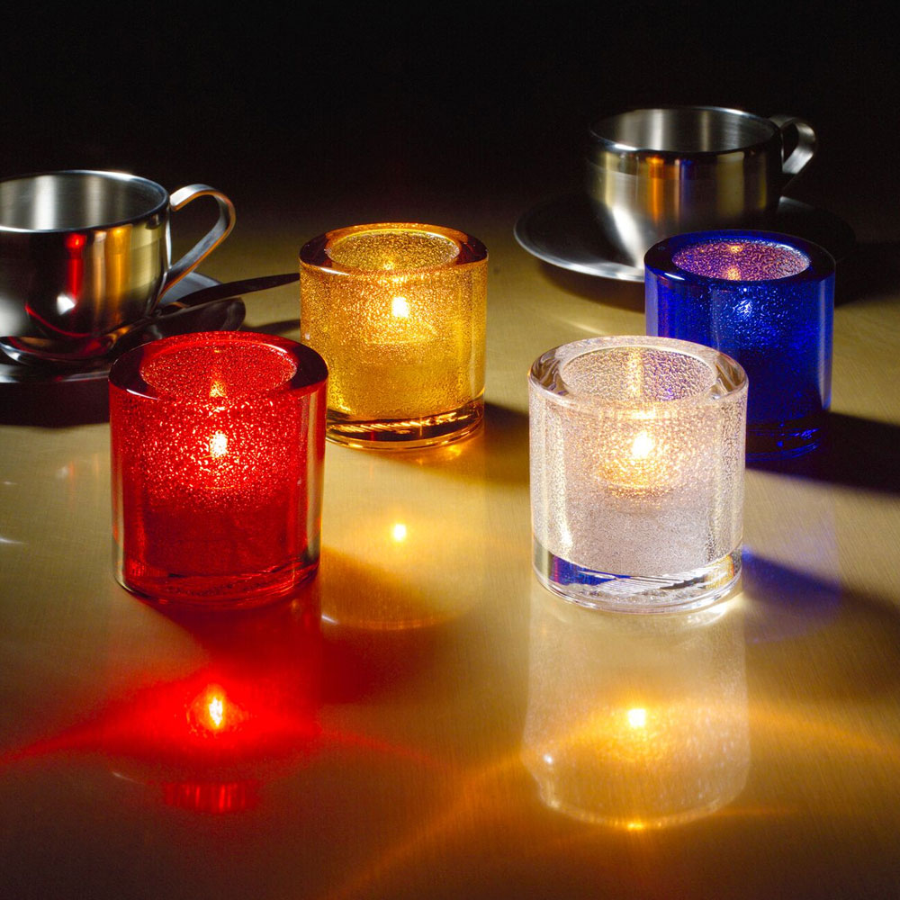 "Hollowick 5140CBLJ Tealight Lamp for HD8. 2.75x2.88"", Glass, Cobalt Blue Jewel"