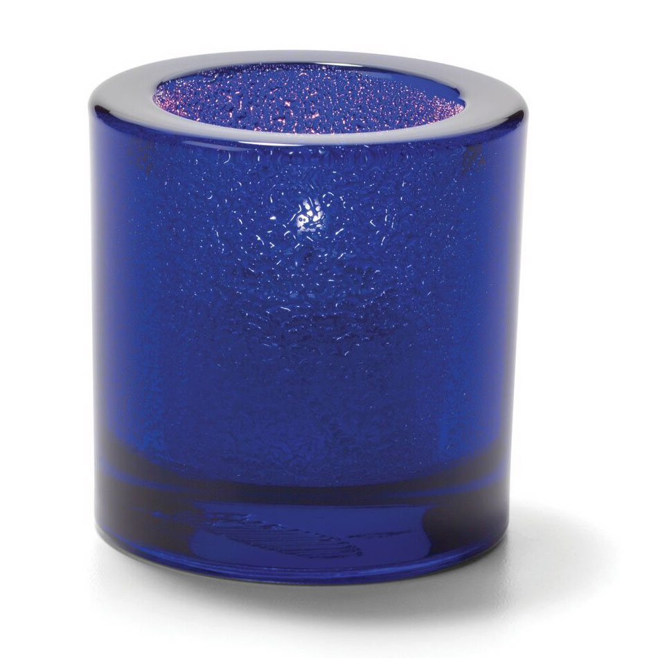 "Hollowick 5140CBLJ Tealight Lamp for HD8. 2.75x2.88"", Glass, Cobalt Blue Jewel"