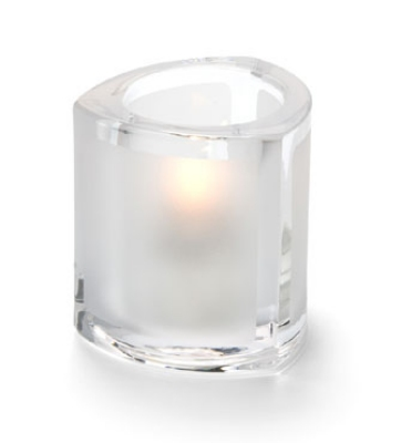 Hollowick 5160F Thick Triangle Tealight Lamp For HD8, Frosted