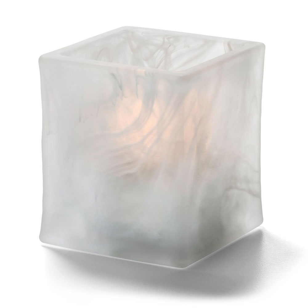 """Hollowick 5180SC 2.75"""" Glacier™ Tealight Lamp for HD8 Fuel Cell - Glass, Satin Crystal Wysp"""