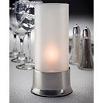 """Hollowick 602 Cocktail II Round Lamp Base for HD36 - 2"""" x 3.63"""", Polished Chrome"""