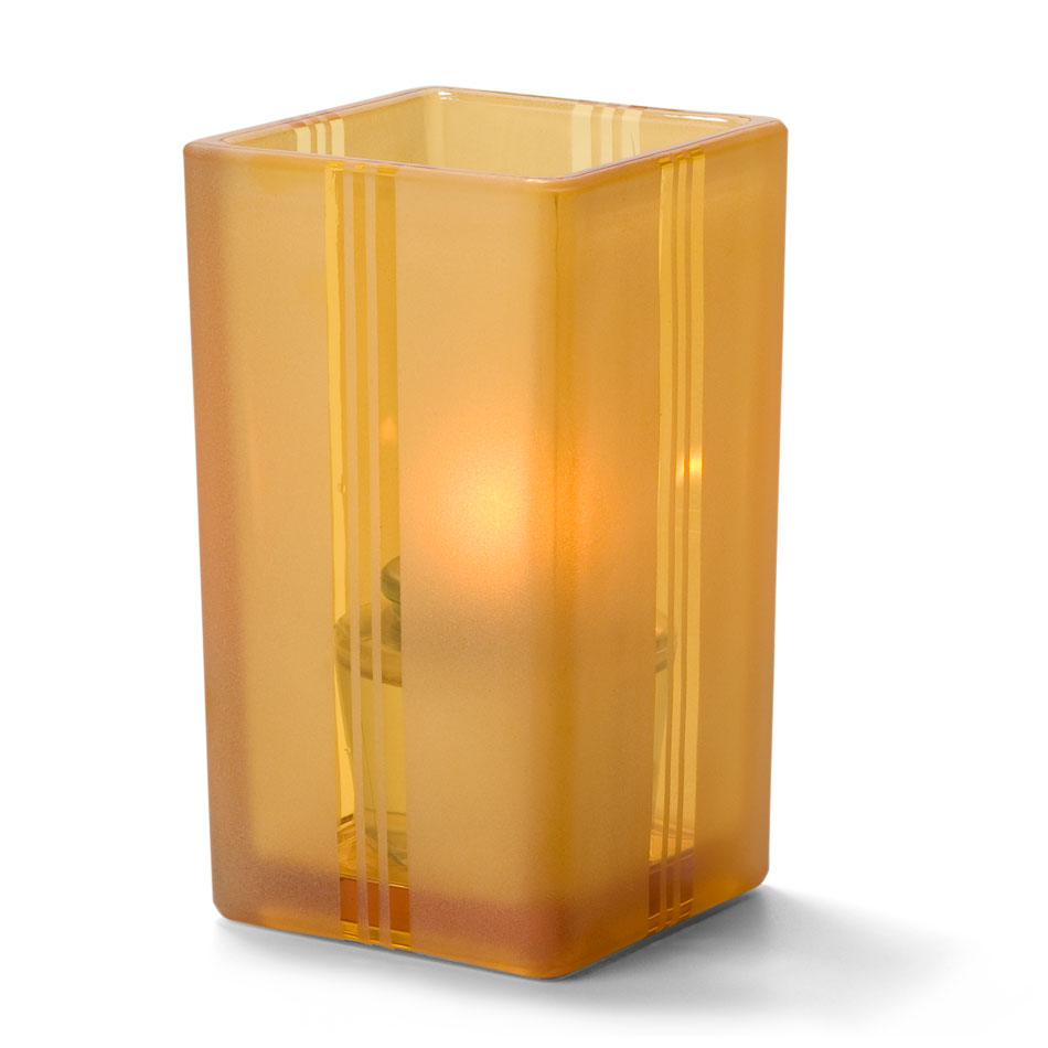 "Hollowick 6109AJ Tealight Votive Holder for HD8 & HD15 - 4.38"" x 2.5"", Amber Jewel"