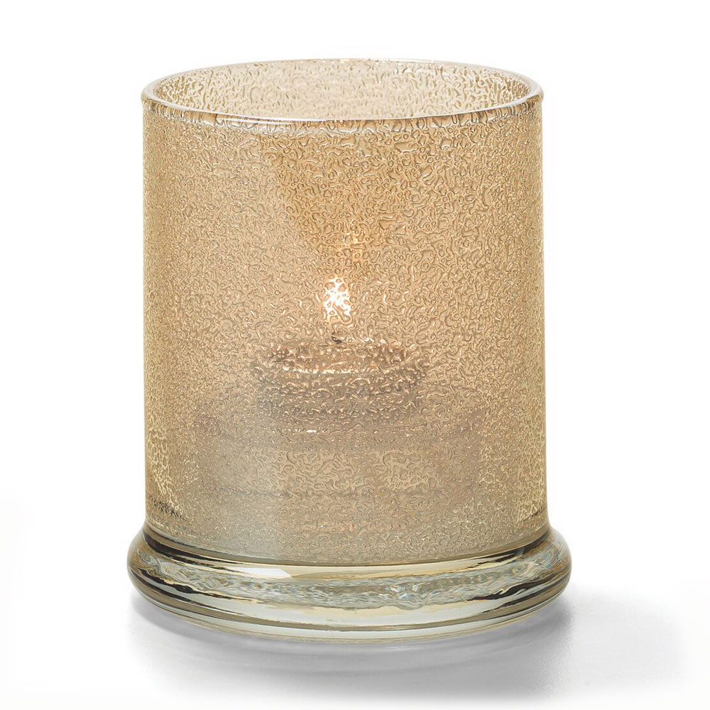 "Hollowick 6147CHJ Votive Lamp w/ Cylinder Style for HD15, HD12 & HD8, 3.63x3"", Glass, Champagne Jewel"