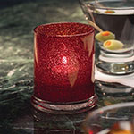 "Hollowick 6147RJ Votive Lamp w/ Cylinder Style for HD15, HD12 & HD8, 3.63x3"", Glass, Ruby Jewel"