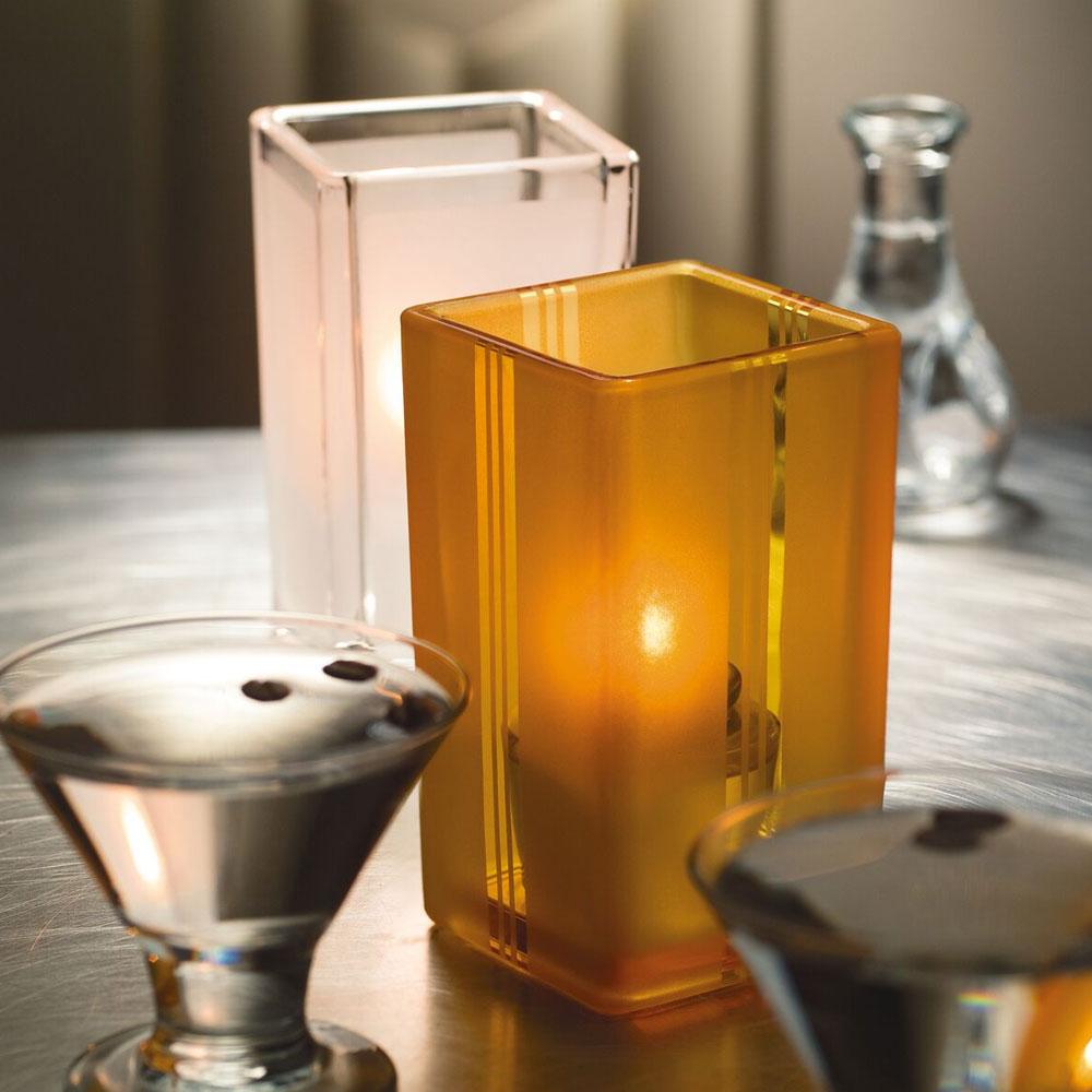 Hollowick 6179FA Quad Votive Lamp For HD8 Or HD15, Amber Art Deco