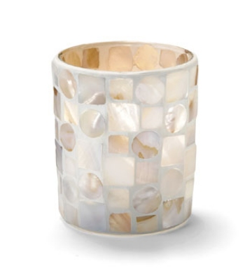 Hollowick 6205MP Mosiac Votive Lamp For HD8, HD12 Or HD15, Mother Of Pearl