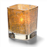 "Hollowick 6505AG Tetra Votive for HD8, HD12 & HD15, 3.5x3"", Antique Gold"