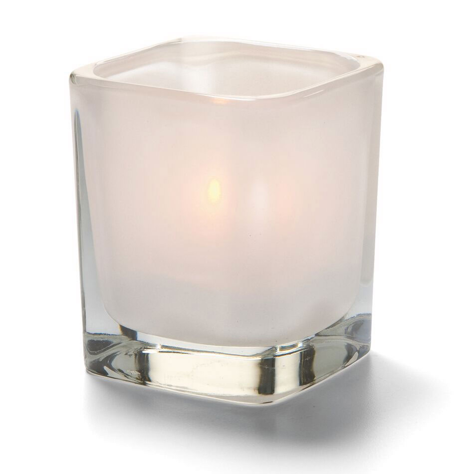 "Hollowick 6505SL Tetra Votive for HD8, HD12 & HD15, 3.5x3"", Satin Linen"