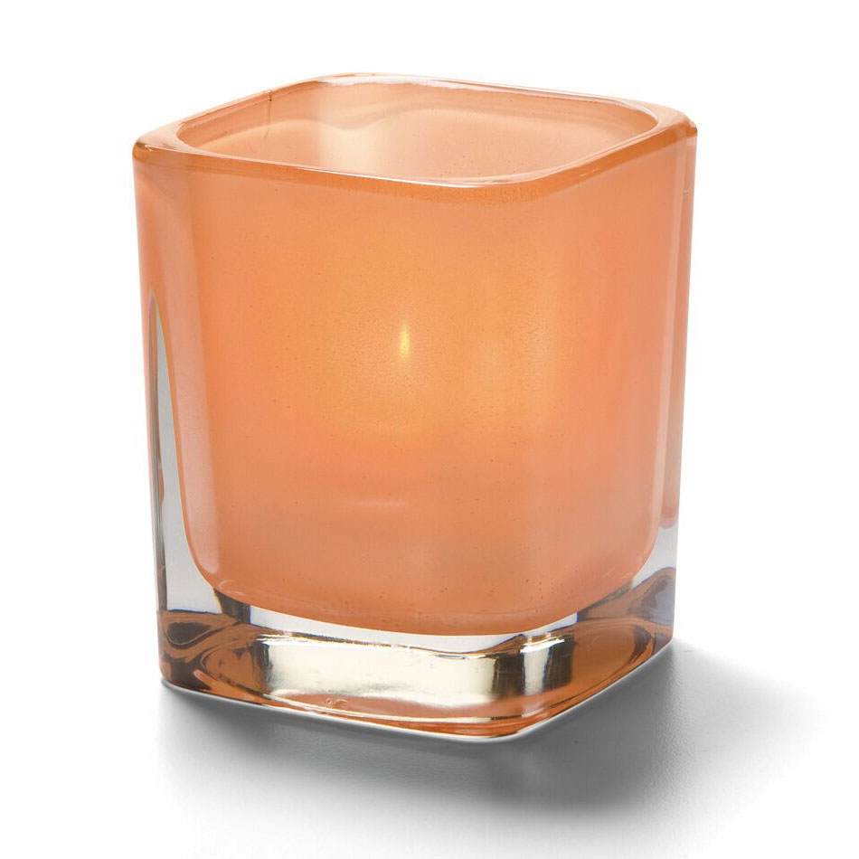 "Hollowick 6505STC Tetra Votive for HD8, HD12 & HD15, 3.5x3"", Satin Terra Cotta"