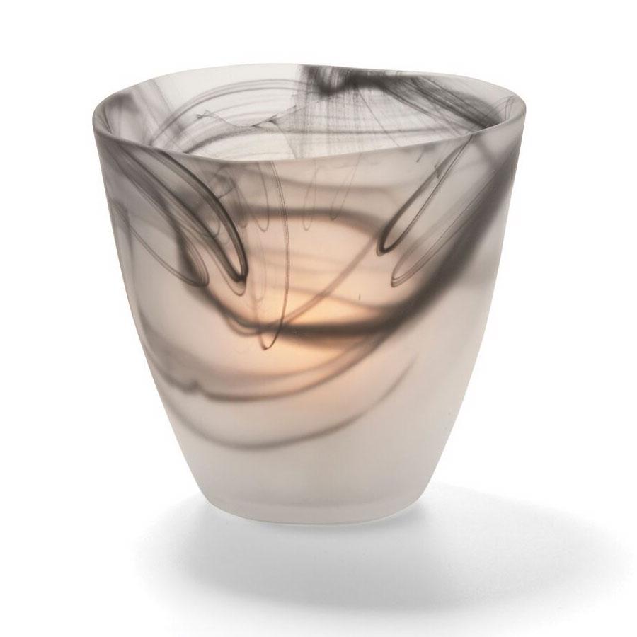 "Hollowick 6817SBK Wysp Votive, 3.5x3.75"", Glass, Satin Black"