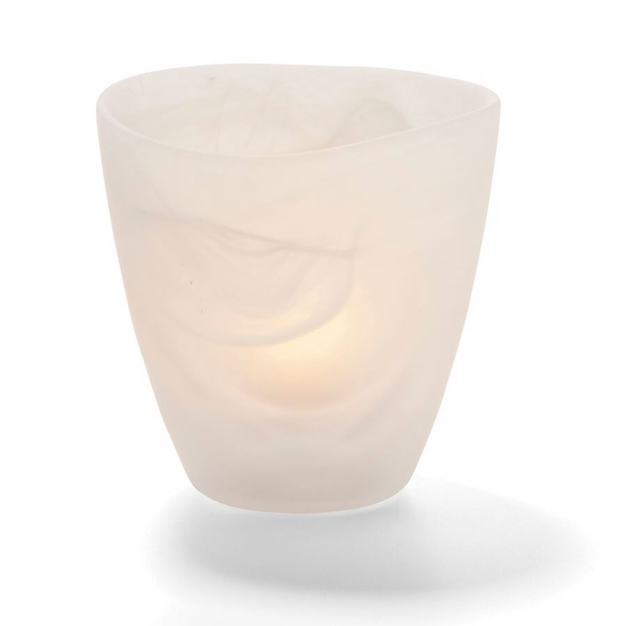 "Hollowick 6817SC Wysp Votive, 3.5x3.75"", Glass, Satin Crystal"