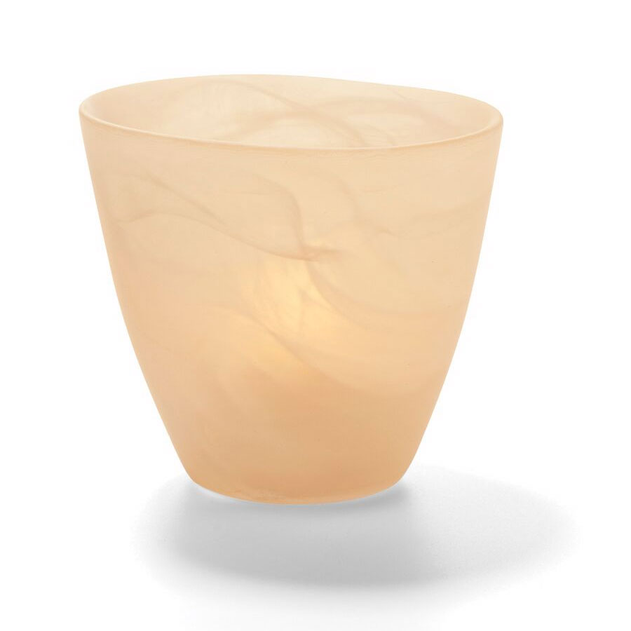"Hollowick 6817SCA Wysp Votive, 3.5x3.75"", Glass, Satin Amber"