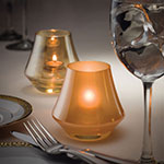 Hollowick 6955SG Chime Votive Lamp for HD8 or HD15, Satin Gold