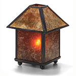 """Hollowick 912A 4-Sided Lamp Shade for 1200A & 1201A Mica Lamps, 3.63x2.13"""", Mica"""