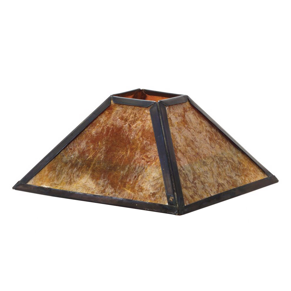 "Hollowick 912A 4-Sided Lamp Shade for 1200A & 1201A Mica Lamps, 3.63x2.13"", Mica"