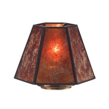 "Hollowick 936A 6-Sided Lamp Shade for Candlestick Lamps, 5.88x4.38"", Mica"