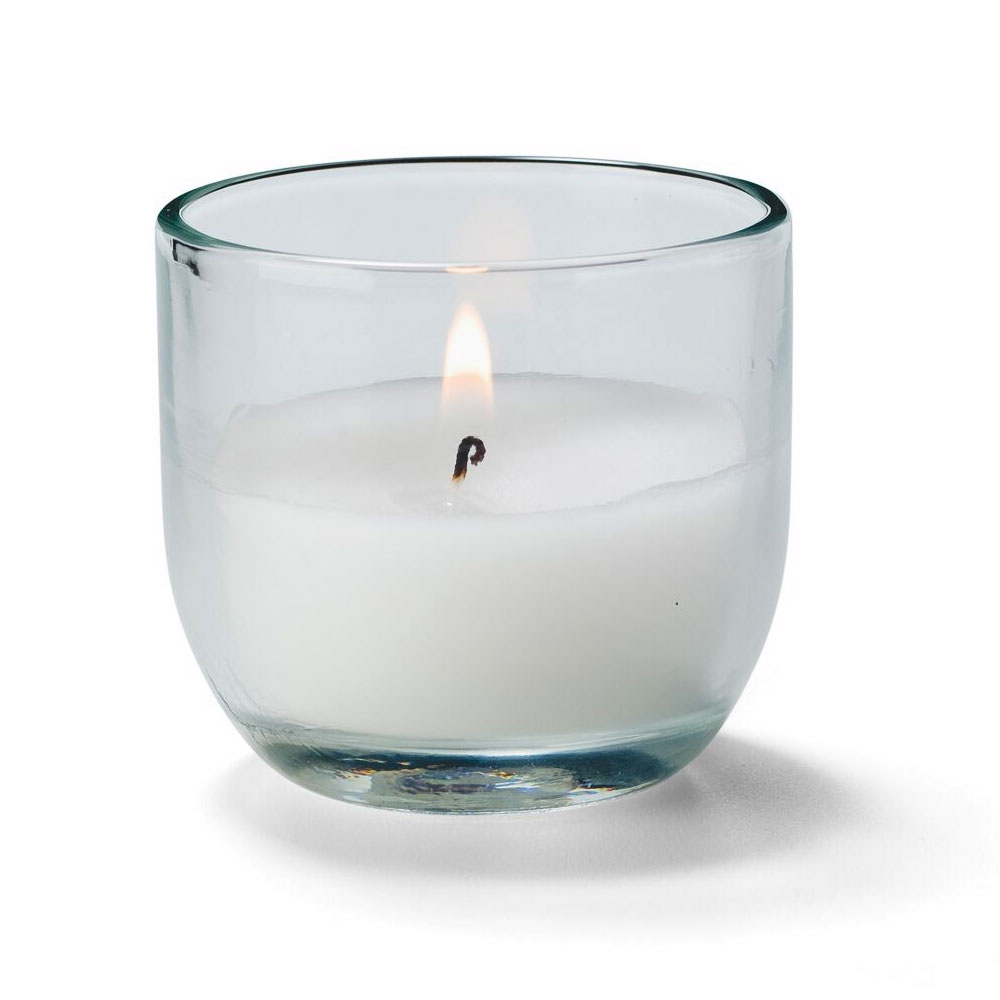 Hollowick CL530-48 CaterLites Disposable Candle w/ 5-Hour Burn Time, Clear Glass