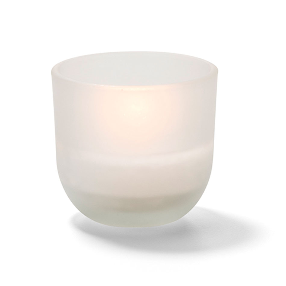 "Hollowick CL530F-48 5-hr Caterlites Disposable Wax Candle - 2"" x 1.87"", Frosted"