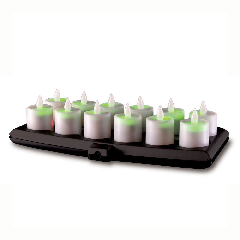 Hollowick EVOG12CL Flameless Candles w/ Smart Guard, Charging Tray & Power Adaptor
