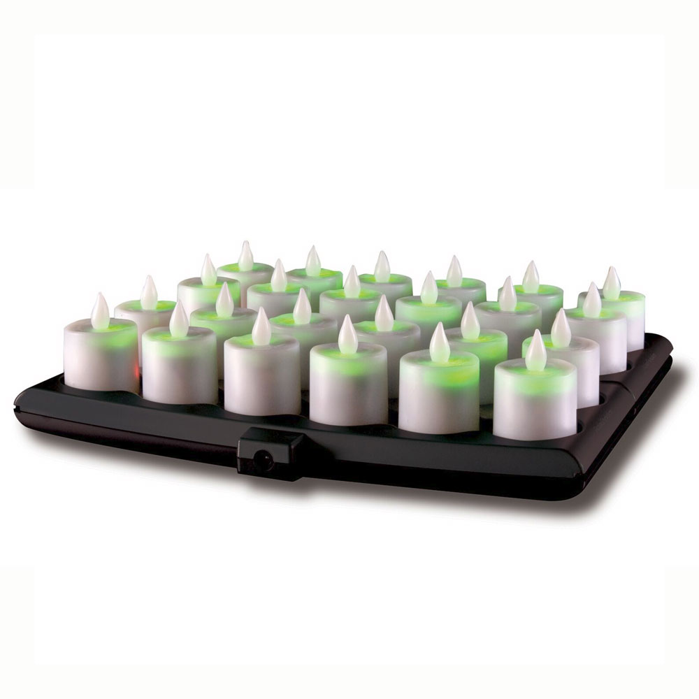 Hollowick EVOG24-CL Evolution Flameless Candle Set w/ Smart Guard & 24-Candles