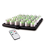 Hollowick EVOX/RC36-CL 36-Flameless Candles w/ Remote Control, 3-Charging Tray & Power Adapter