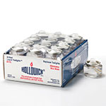 """Hollowick HD8-24M 12-Pack Disposable Liquid Fuel Cell w/ 8-hr Capacity, 1.5x.82"""", Plastic, Clear"""