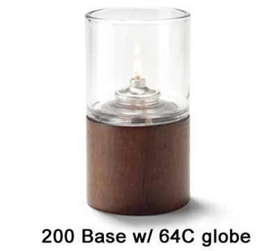 Hollowick 200 Horizon Cylinder Base, 2.38x2.75-in, Wood
