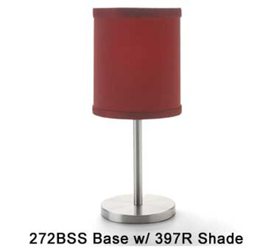 Hollowick 397R Candlestick Shade w/ Drum Shape, 5.38x5.75-in, Fabric, Scarlet