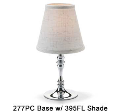 Hollowick 395FL Empire Candlestick Shade, 4.5x5.13-in, Fabric, Flax