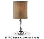 Hollowick 397SW Candlestick Shade w/ Drum Shape, 5.38x5.75-in, Fabric, Sandlewood