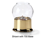 Hollowick 35C Fitter Globe For 3-in Fitter Base, 3.38x3.13-in, Glass, Clear Bubble