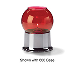 Hollowick 35R Fitter Globe For 3-in Fitter Base, 3.38x3.13-in, Glass, Ruby Bubble