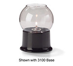 Hollowick 35S Fitter Globe For 3-in Fitter Base, 3.38x3.13-in, Glass, Smoke Bubble
