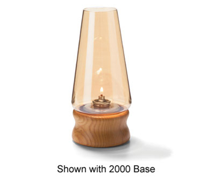 Hollowick 36AL Fitter Globe w/ Conical Shape For 3-in Fitter Bases, 4x76.75-in, Glass, Amber Lustre