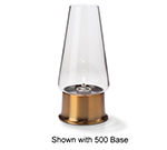 Hollowick 36C Fitter Globe w/ Conical Shape For 3-in Fitter Bases, 4x76.75-in, Glass, Clear