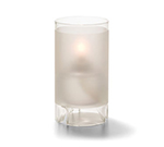 Hollowick 48000F Cylinder Lamp For HD36, 5.5x3-in, Glass, Satin Crystal