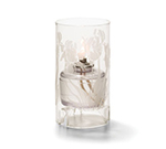 Hollowick 48000C-IRIS Cylinder Lamp For HD36, 5.5x3-in, Glass, Clear/Iris