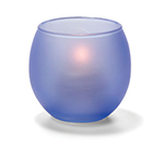 Hollowick 5119SDB Tealight Lamp w/ Bubble Style, 2.63x2.38-in, Glass, Satin Dark Blue