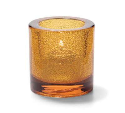 Hollowick 5140AJ Tealight Lamp For HD8. 2.75x2.88-in, Glass, Amber Jewel